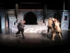 The Rockhurst students practice their fight scenes before the theater is opened to the public. Ian VonFange and Will Walton, left, wield swords. By: Marley Schmidtlein