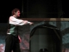 Drew Jurden, Romeo, stages his fight scene during which Tybalt is killed. Tybalt, played by Ian VonFange, is killed by Romeo. By: Marley Schmidtlein
