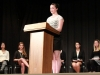 Sophomore Maggie Bowen competing at the 2012 Woodsmen speech contest.
