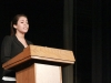 Junior Nikki Rodriguez speaking at the 2012 Woodsmen speech contest on May 3rd.