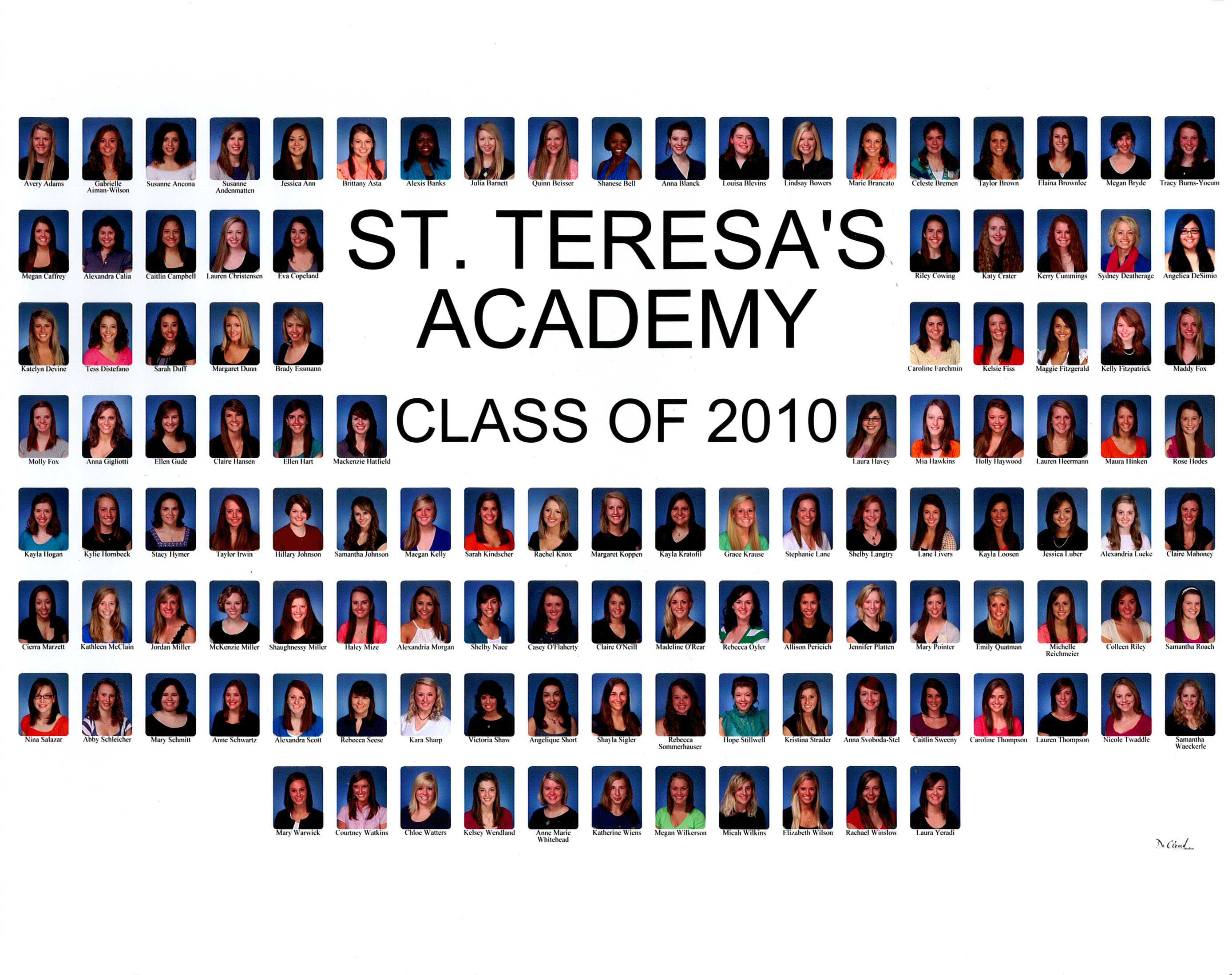St. Teresa&#039;s Academy Class of 2010