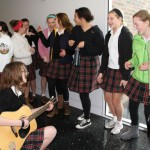 "While waiting in the Windmoor Center during Activity 2 after the fire alarm was set off a second time, students sang Taylor Swift's ""Our Song"" and Jason Mraz's ""I'm yours."" They were led by guitarist Brianna Valine."