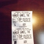 Sophomore Anja Browning shows the ticket she purchased for the Hunger Games movie. &quot;I&#039;ve probably been counting down days for about a month,&quot; Browning said.