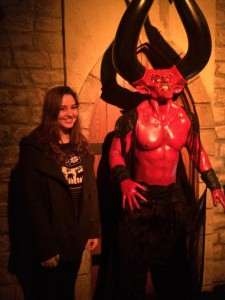 Sophomore Christina Kirk poses with Satan. No further explanation needed. photo by Mackenzie O'Guin